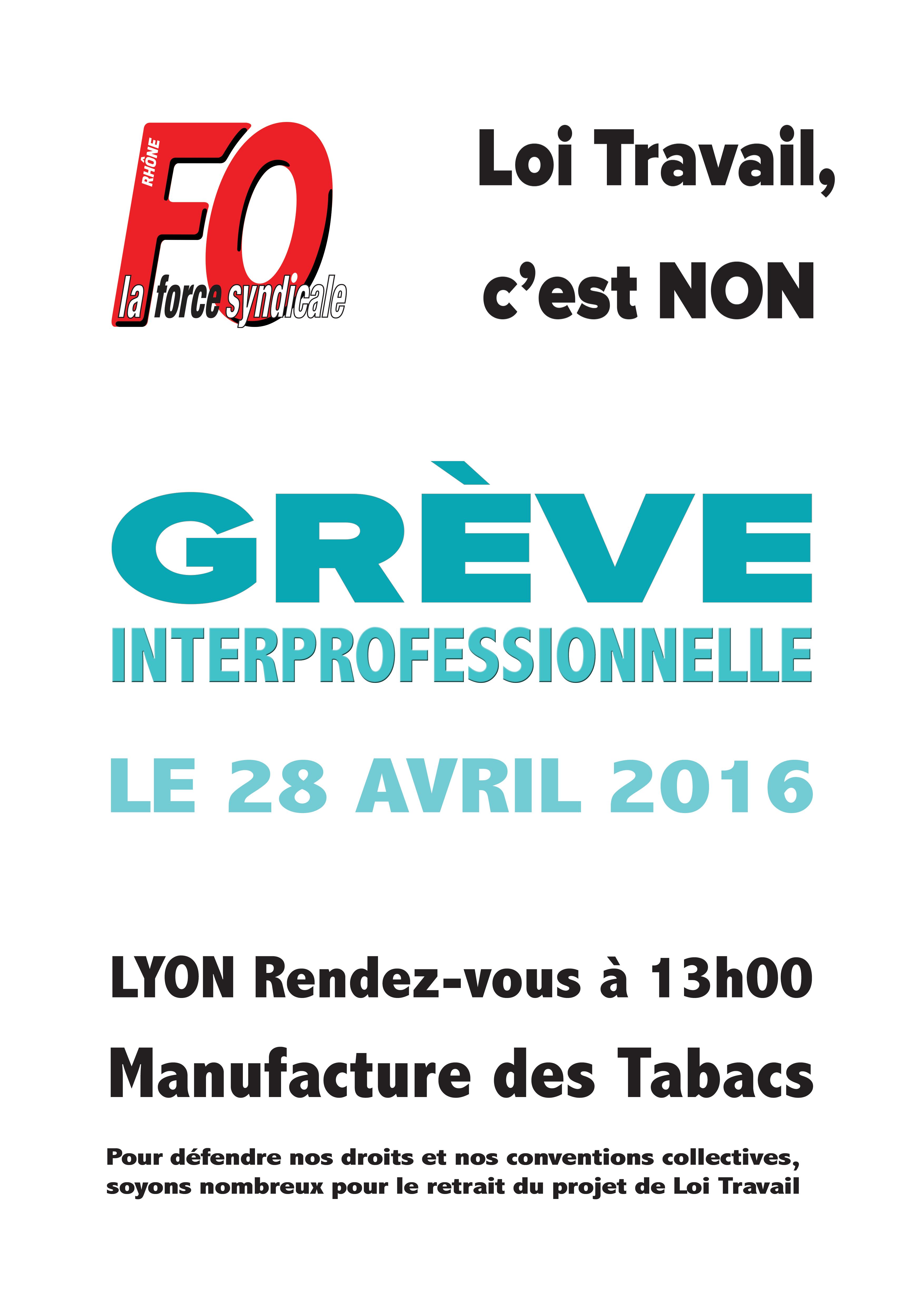 Union Departementale Force Ouvriere Du Rhone Ud Fo 69 Greve